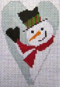 12-Snowman Heart